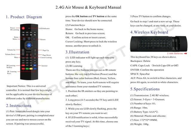 MX3 air mouse met toetsenbord