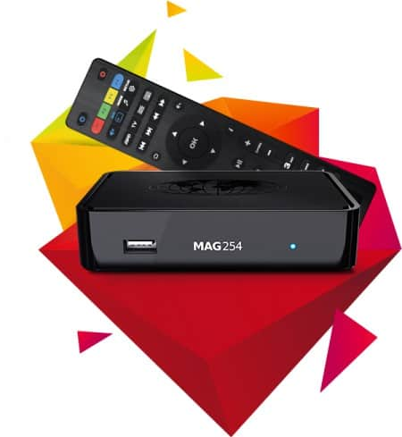 Mag 254 IPTV set-top box
