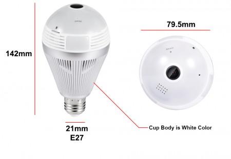 led lamp ip camera 3mp