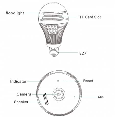 1.3 MP Onvif P2P IP Camera LED lamp